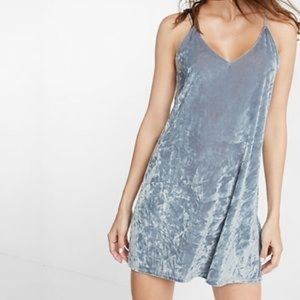 Express Crushed Velvet Slip Dress